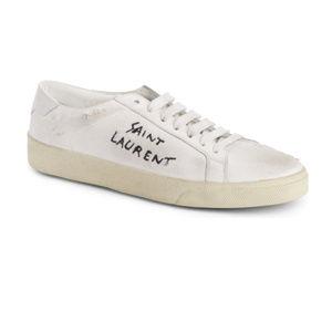 [Saint Laurent] Court Classic Sneakers - 38